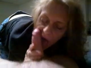 Grandma blowjob and cum