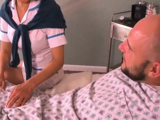 Milf Asian nurse fucks the individual