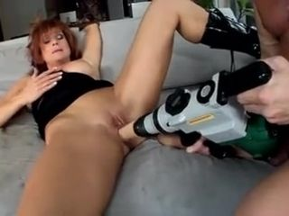 A large geyser facial cumshot for a sexually infatuating mature with pretty face and clean-shaven cootchie slit