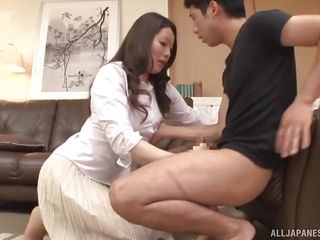 Japanese Milf Seduced Her Step-son