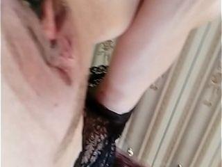 Wand drives her vulva mischievous