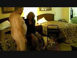 fat cuck watches his wife