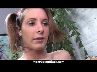 White horny mom in interracial hard sex 19