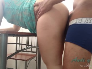Kitchen morning quickie latina housewife
