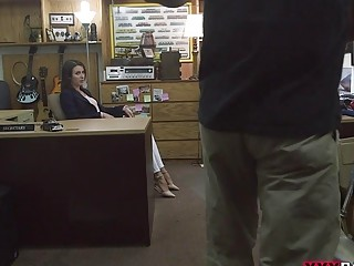 Customers wife railed by nasty pawn guy