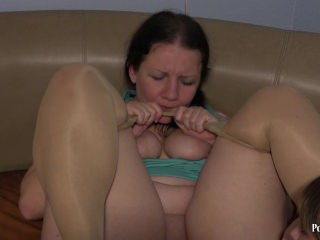 fisting. Young plump woman, hand fucks mature aunt