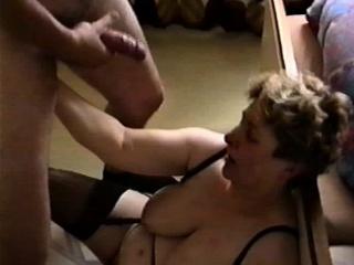 Chubby MILF gets jizzed on high their way beefy saggy titties