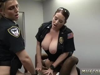 Bimbo blowjob coupled with french interracial swingers Milf Cops