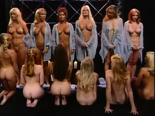 Inexperienced uber-cute blondie and dark-haired femmes doing fellatio