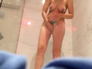 Fur covered phat melon wifey caught on web cam in bathroom