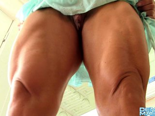 Denise Masino - Tropical Muscle Contractions - Female Bodybuilder