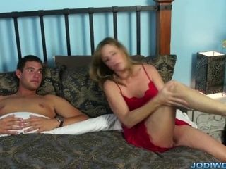 Cute MILF Jodi West pussy drilled apart from puerile house-servant trifle