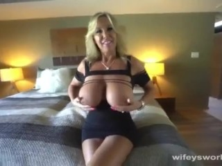 Cougar With gigantic orbs Gets banged And caked With jizm