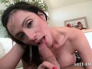 Stockinged mom loves fucking monster cocks