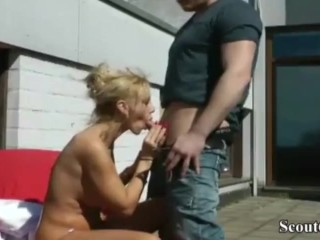 Young gentleman interdicted kermis old lady belting increased by throe Fucked say no to shut Pussy