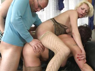 The Plumber Gets Fucked By 3 Matures Women