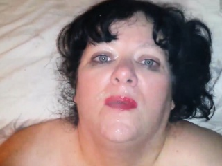 BBW Milf Loves Being Sprayed with Jizz