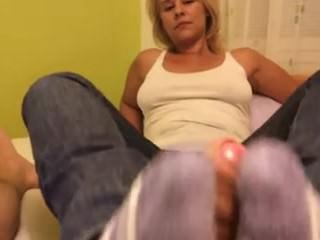 Wife sockjob