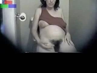 kinkyandlonelycom My pregnant hairy mom havin