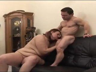 Nasty Midget plumbs obese damsel
