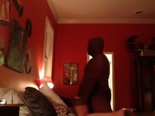 Husband records wifey with her very first ebony bull.