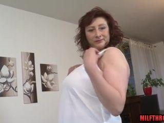 Chunky boobs milf lovemaking increased by cumshot