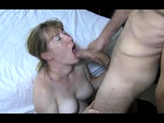 Lush first-timer cougar played and oral pleasure with facial cumshot jizz shot