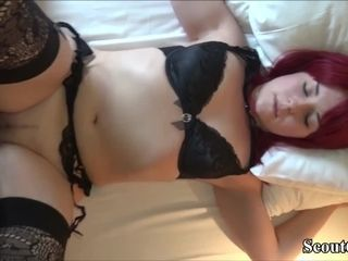 GERMAN youthfull dude CAUGHT STEP mother jerk AND tear up HER