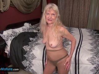 Slender grannie In stocking