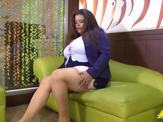LATINCHILI Rosaly is masturbating her fat lat