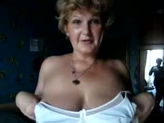 Insatiable for sex granny masturbating with Hitachi