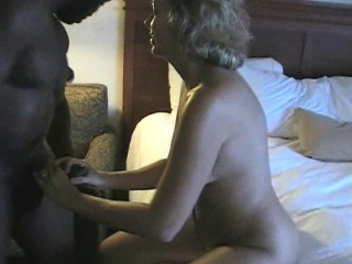 Mature blonde goes on camera the first time sucking and fuc