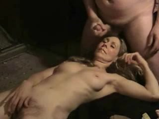 Hairy amateur mature mumsy double facial mouth cumshot