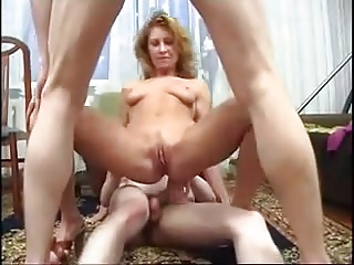 STP3 Their Loving Mom Cancels Her Date To Fuck Her Boys !
