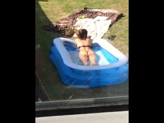 Spycam sunbathing milf neighbour!