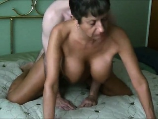 Busty gorgeous grandma