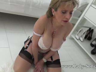 Dame Sonia taunting you with her immense titties