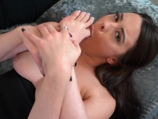 Homemade bust and toe blowing