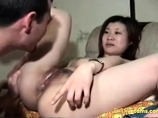 Asian babe in arms gets the brush pussy disjointed
