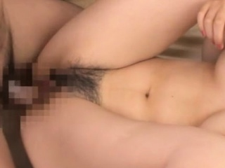 Pretty asian babe's shaggy beaver smashed and internal ejaculation