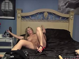 huge black toy in wet mature pussy