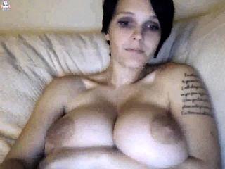 Mature plumper solo on web cam