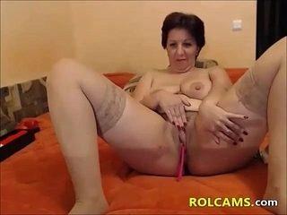 Naughty Mature enjoys Her Dildos
