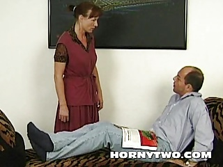 Dirty mature fuck whore greedy for cum from big white cock