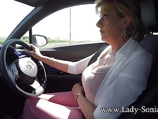 Full-grown fair-haired son Sonia plays far the brush boobs measurement activating