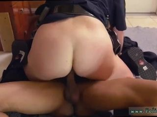 Dark-hued dark-hued masculine squatting in home gets our cougar officers squatting on
