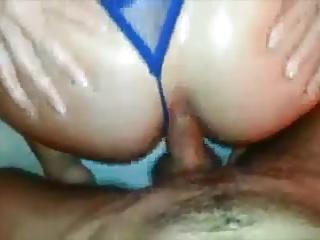 Real amateur anal in purple thong JustAmateurs.tv