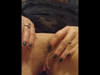 Cougar gash SO cock-squeezing fucktoy fake penis scarcely heads IN real duo