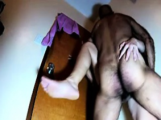 Luscious wife gets her hairy peach deeply drilled by her ho