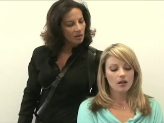A legend nymph (Melissa Monet) takes a magnificent towheaded (Samantha Ryan